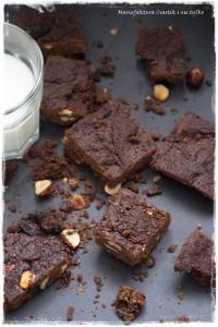 brownies z orzechamilaskowymi bez cukru1