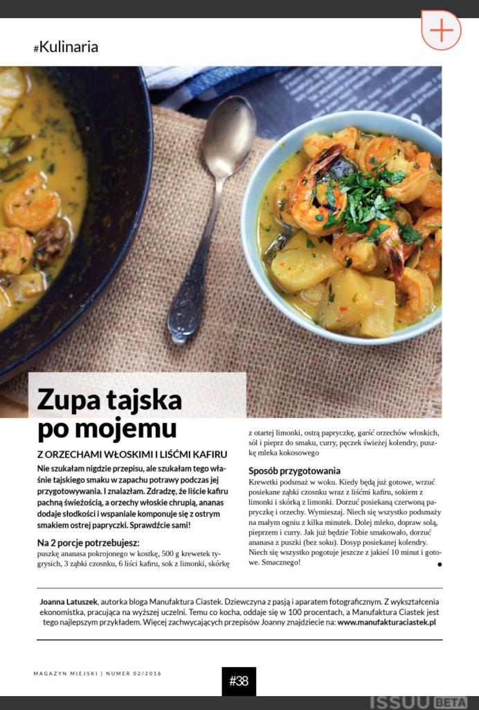 Manufaktura Ciastek gotuje zupę tajską po swojemu